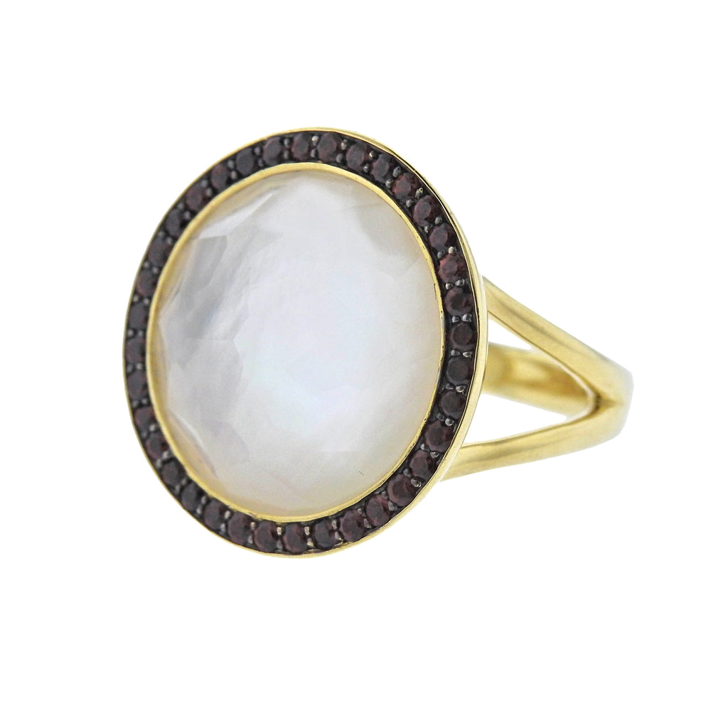 thumbnail image of Ippolita Lollipop Garnet Mother of Pearl 18k Gold Ring