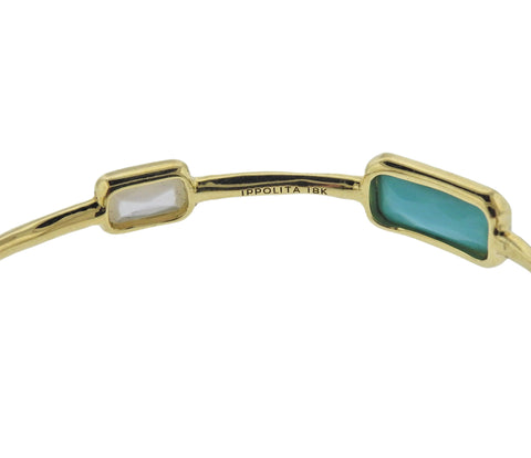 image of Ippolita Rock Candy Gelato Sailor 8 Stone 18k Gold Bracelet