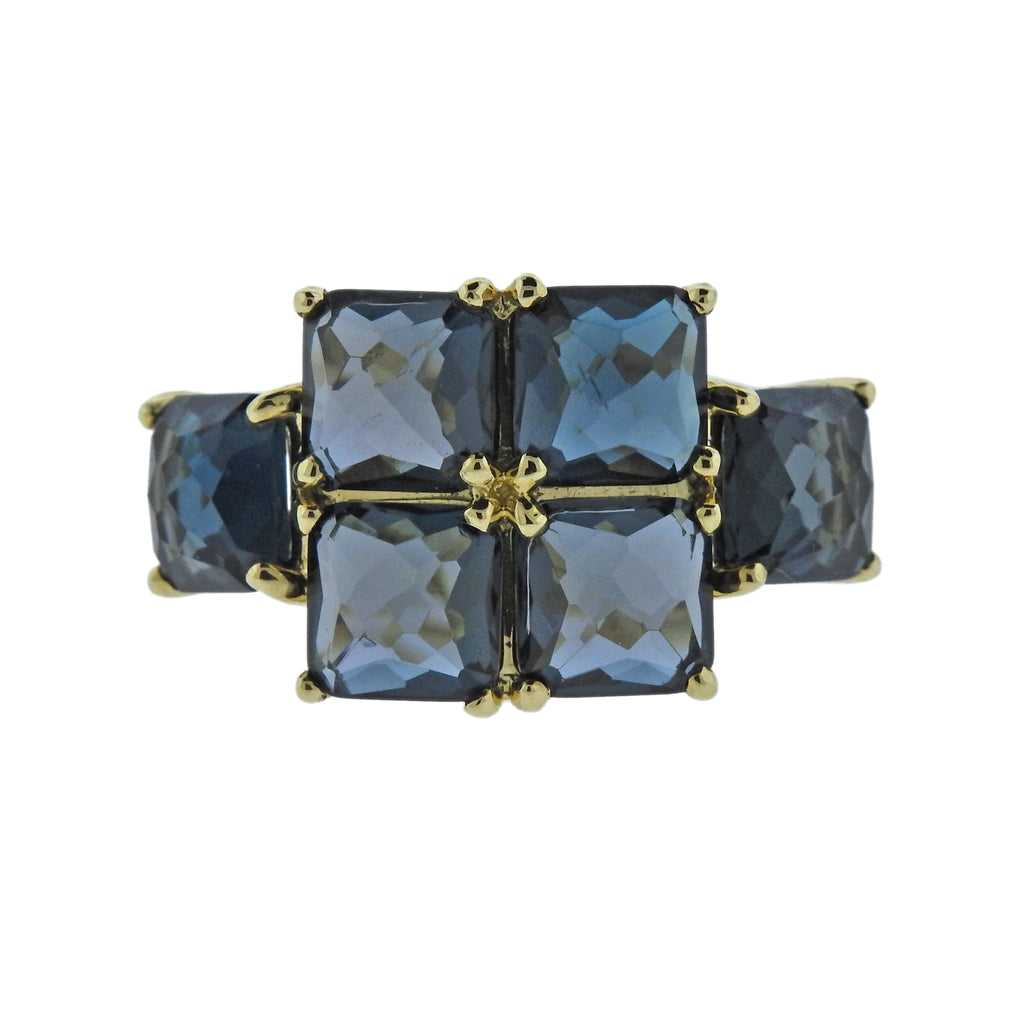 thumbnail image of Ippolita Rock Candy London Blue Topaz 18k Gold Ring