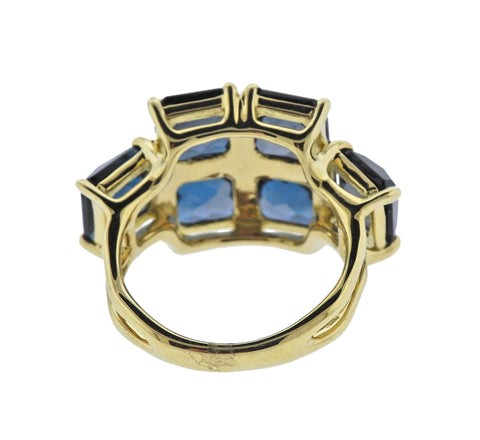 image of Ippolita Rock Candy London Blue Topaz 18k Gold Ring