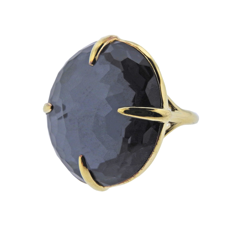 thumbnail image of Ippolita Gelato Kiss Quartz Hematite Large Ring