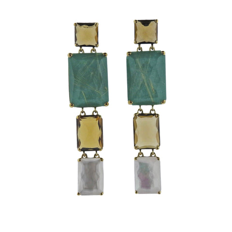 image of Ippolita Rock Candy Sailor Gemstone 18k Gold Earrings