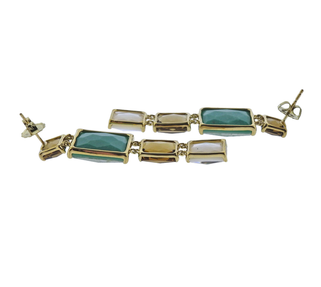 thumbnail image of Ippolita Rock Candy Sailor Gemstone 18k Gold Earrings