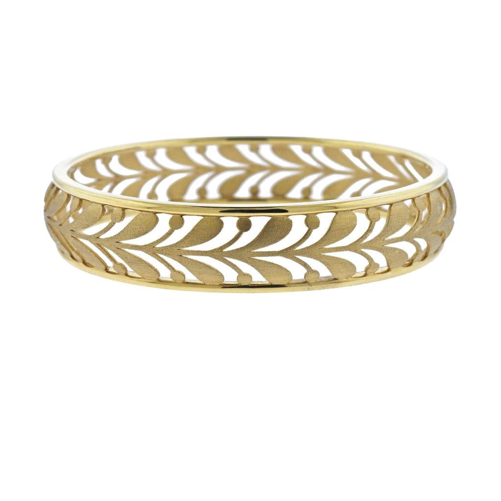 thumbnail image of Tiffany & Co Paloma Picasso 18K Gold Villa Paloma Narrow Palm Bangle