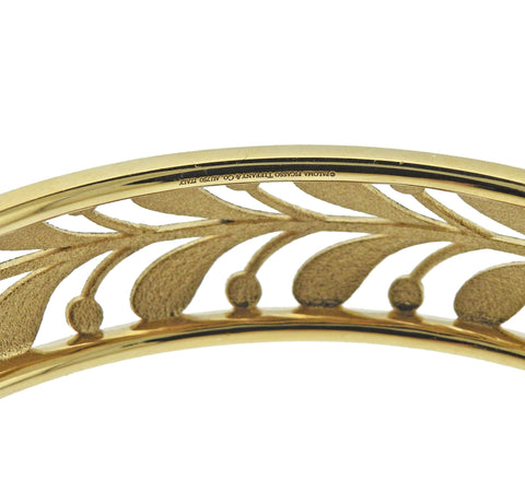 image of Tiffany & Co Paloma Picasso 18K Gold Villa Paloma Narrow Palm Bangle