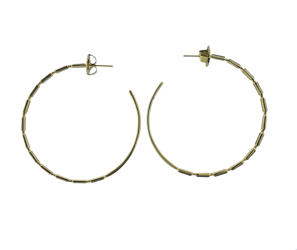 thumbnail image of Ippolita Rock Candy Cognac Citrine 18k Gold Hoop Earrings
