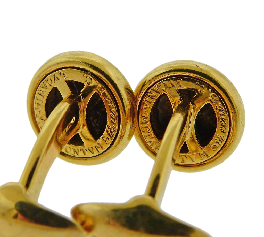 thumbnail image of Bulgari Monete 18k Gold Ancient Coin Cufflinks