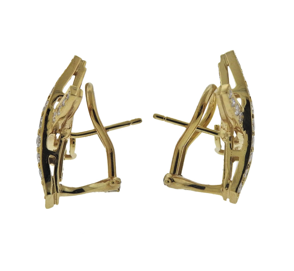 thumbnail image of Tiffany & Co Paloma Picasso Diamond Gold X Earrings