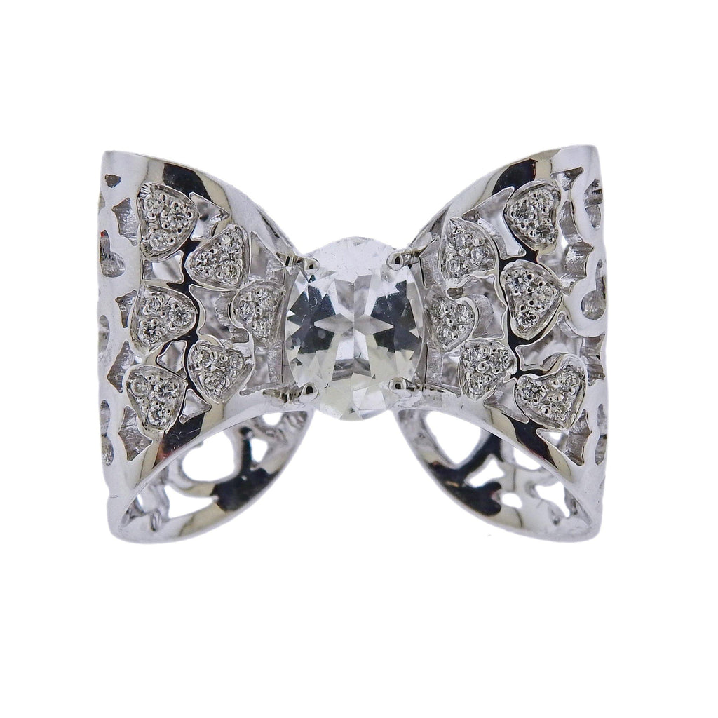 thumbnail image of Pasquale Bruni Oh La La Gold Diamond Crystal Bow Ring