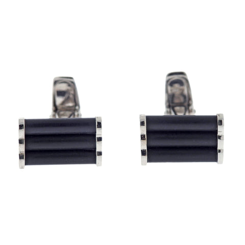 Favero 18k Gold Black Stone Cufflinks