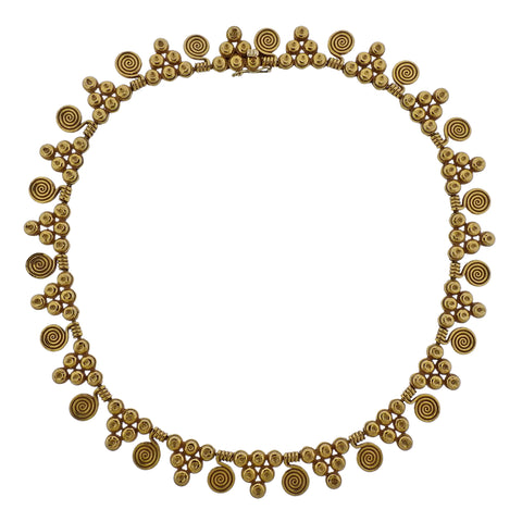 image of Zolotas Greece 22k Gold Necklace