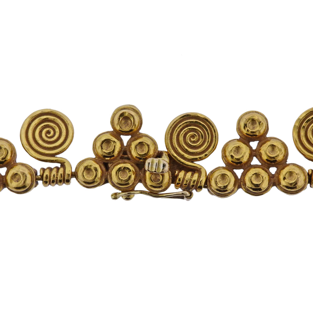 thumbnail image of Zolotas Greece 22k Gold Necklace