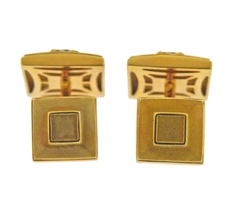 image of Tiffany & Co Atlas Onyx Gold Cufflinks