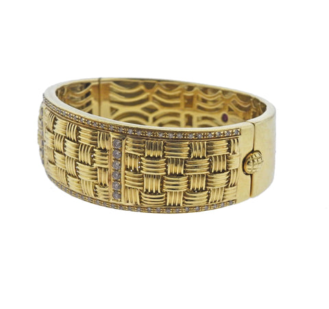 image of Roberto Coin Appassionata Diamond Gold Bracelet