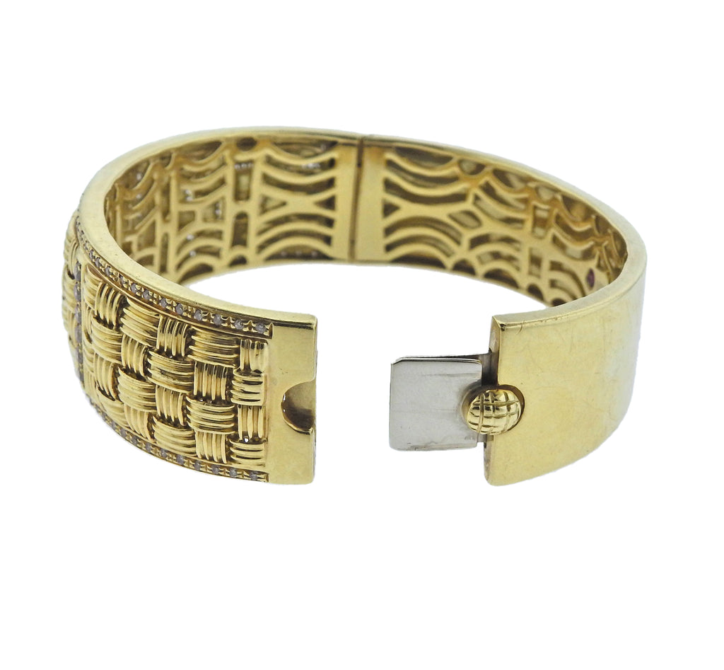 thumbnail image of Roberto Coin Appassionata Diamond Gold Bracelet