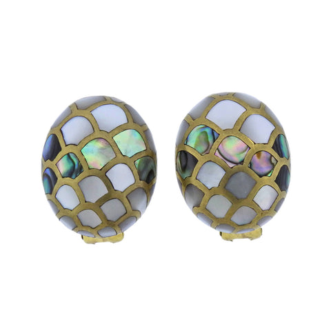 image of Angela Cummings Abalone Gold Earrings