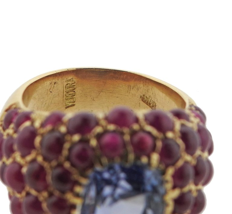 thumbnail image of Verdura Sapphire Ruby Gold Ring