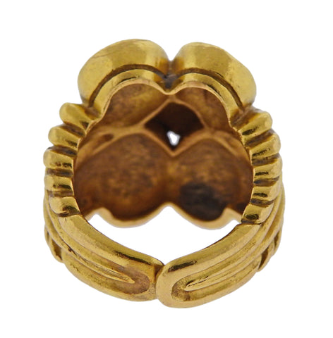image of Zolotas Greece 22k Gold Swirl Ring