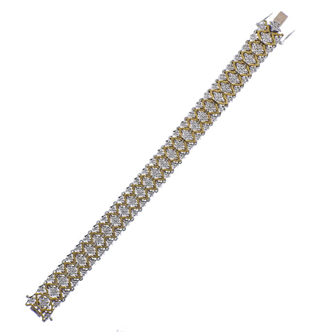 image of Mario Buccellati Diamond Gold Bracelet