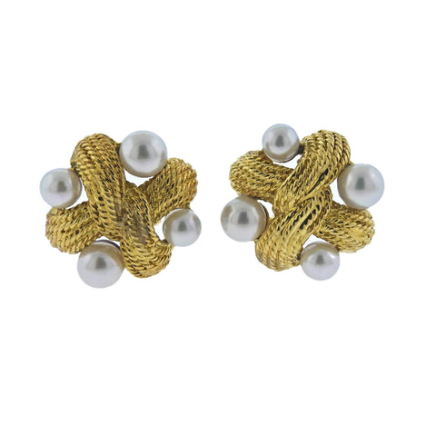 image of Pearl Gold Earrings