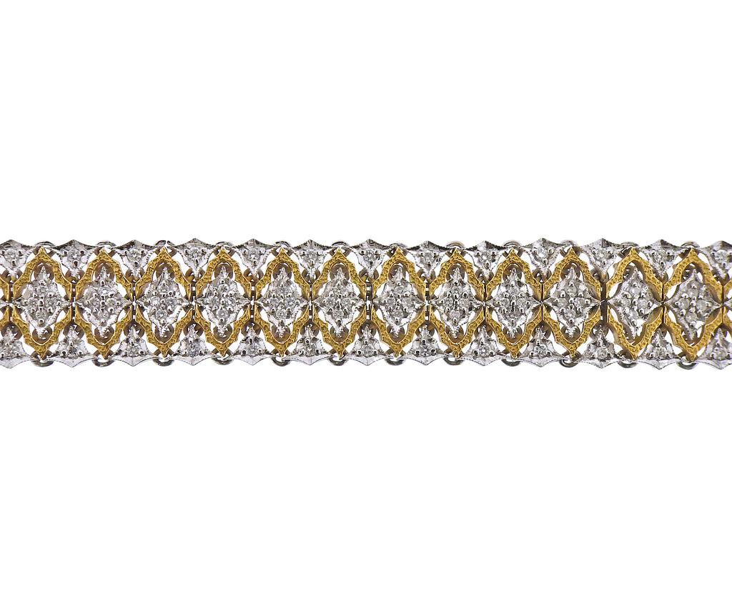 thumbnail image of Mario Buccellati Diamond Gold Bracelet