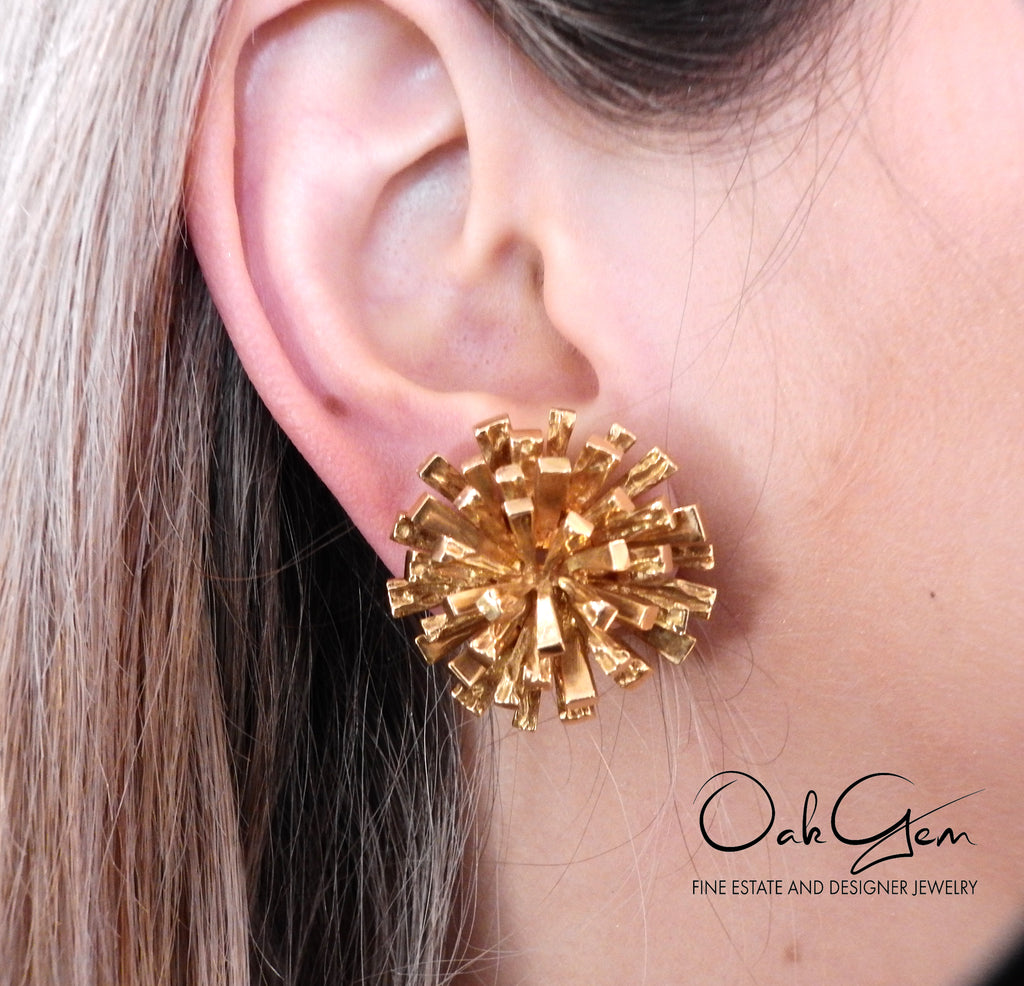 thumbnail image of 1970s Tiffany & Co 18k Gold Earrings