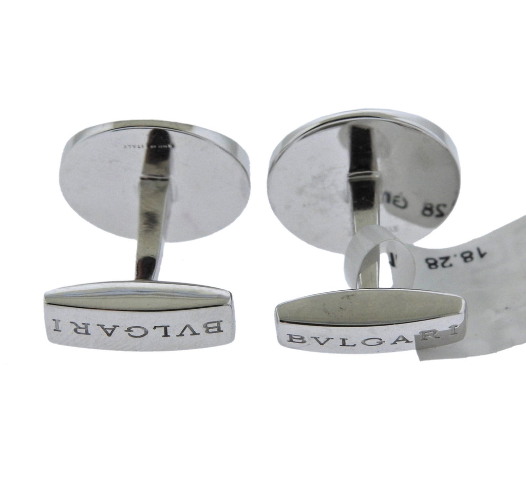 thumbnail image of Bvlgari Bulgari Diamond Gold Cufflinks