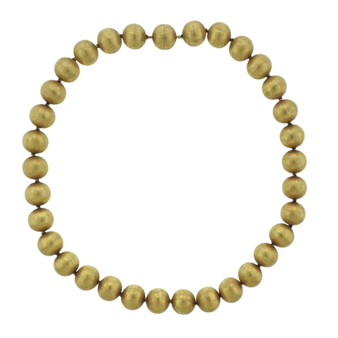 image of Buccellati Gold Bead Necklace