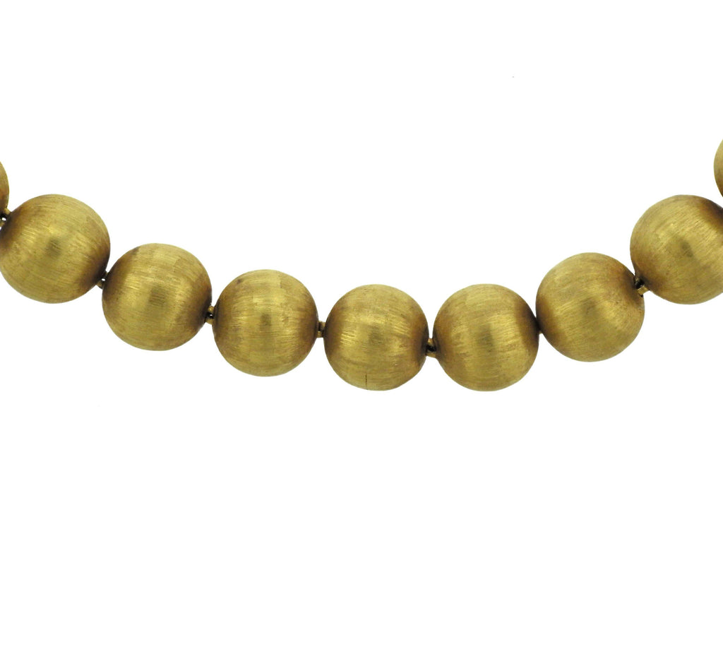 thumbnail image of Buccellati Gold Bead Necklace