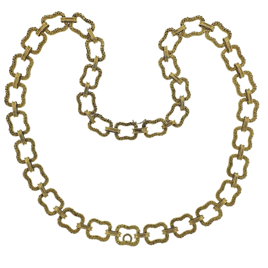 thumbnail image of Paul Flato 1970s Gold Long Link Necklace