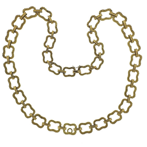 image of Paul Flato 1970s Gold Long Link Necklace