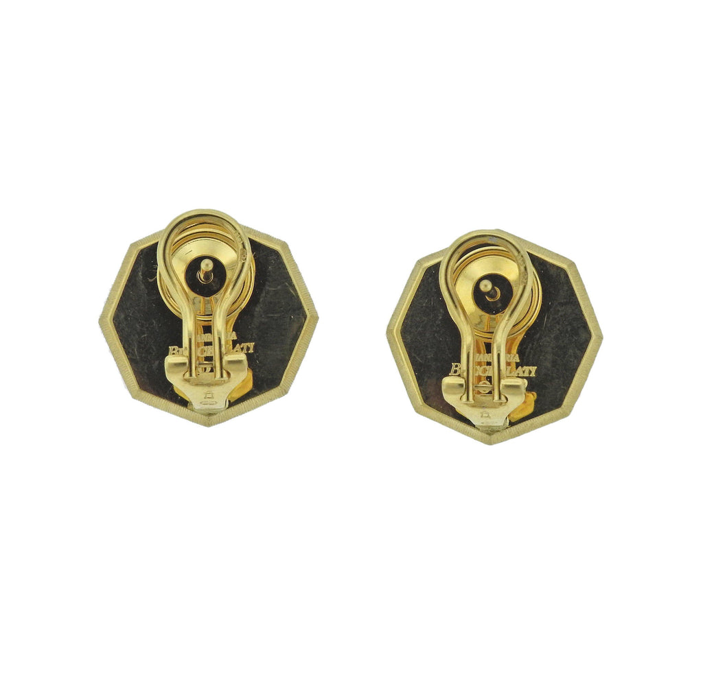 thumbnail image of Buccellati Prestigio Diamond Octagon Gold Earrings