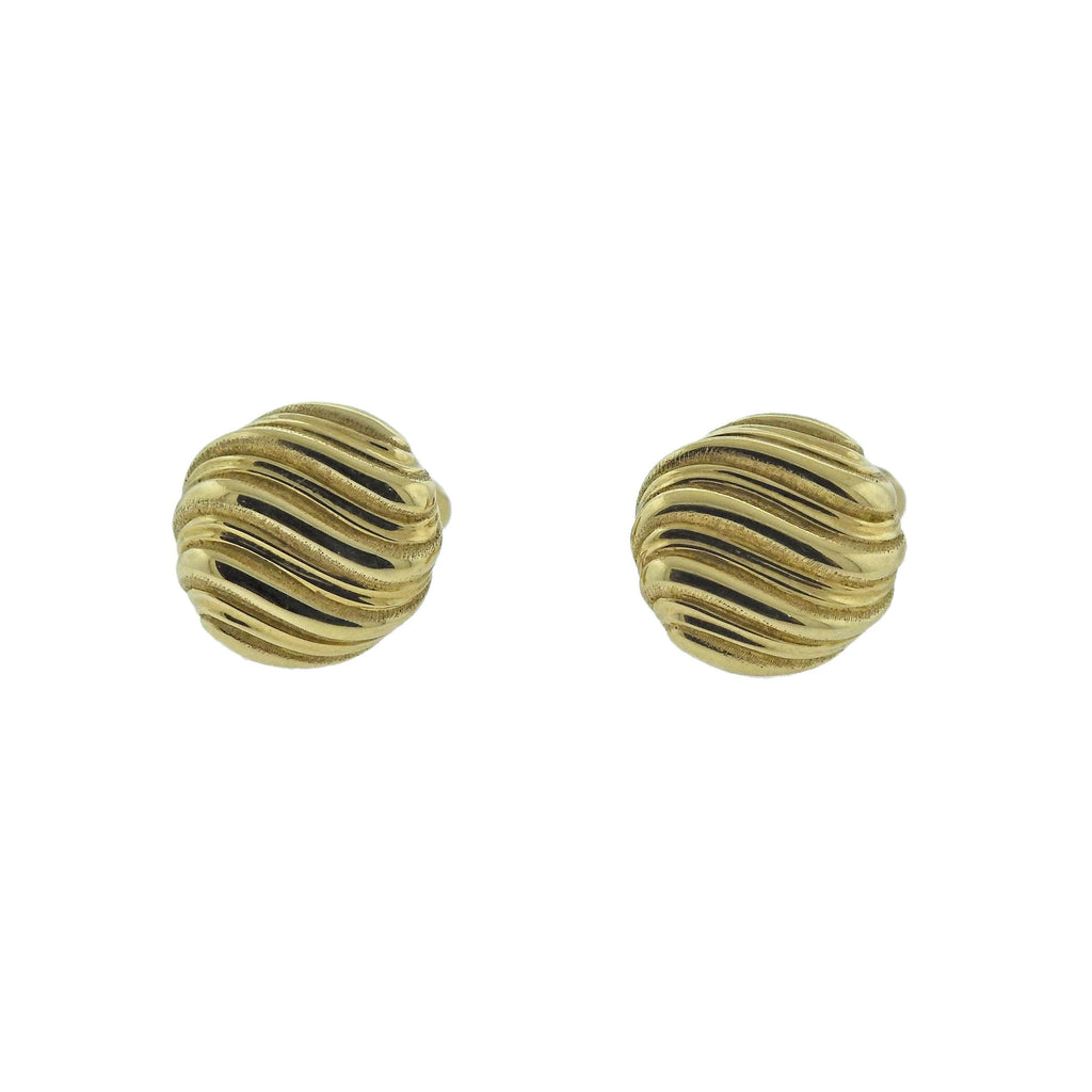 thumbnail image of Buccellati Prestigio Wave Motif Yellow Gold Cufflinks