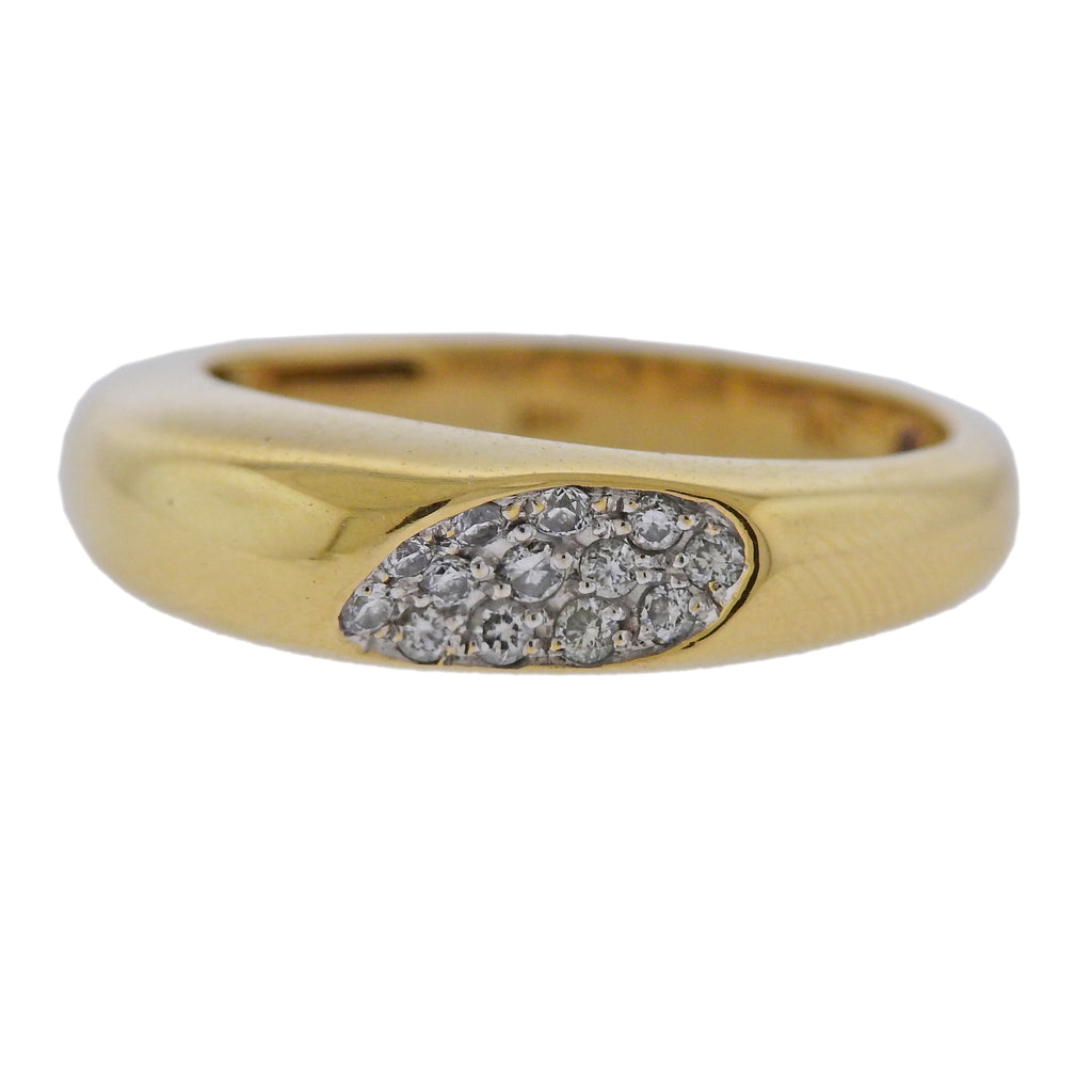 thumbnail image of Roberto Coin Capri Plus 18k Gold Diamond Ring