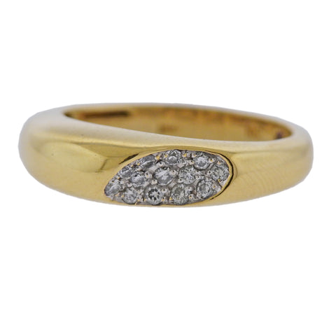image of Roberto Coin Capri Plus 18k Gold Diamond Ring
