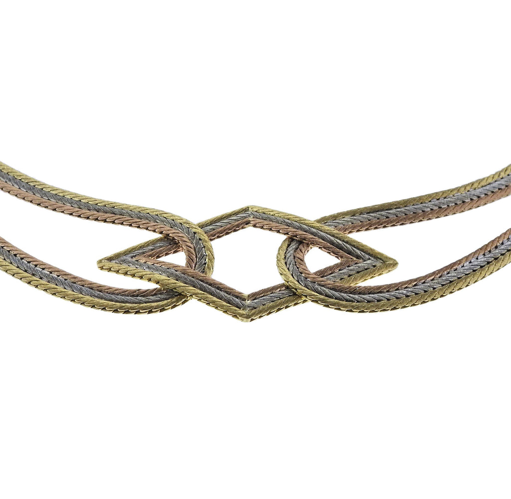 thumbnail image of Buccellati Rose Yellow White Gold Necklace