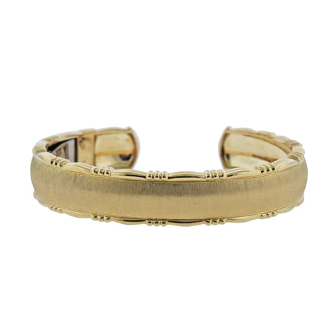 image of Buccellati Yellow Gold Cuff Bracelet