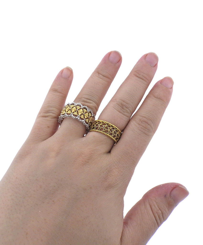 thumbnail image of Buccellati Prestigio Two Color Gold Wide Band Ring