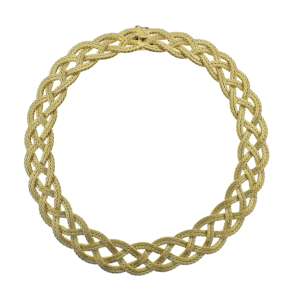 thumbnail image of Buccellati Yellow Gold Braided Necklace
