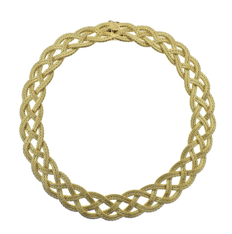 image of Buccellati Yellow Gold Braided Necklace
