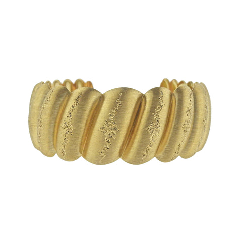 image of Buccellati Wide Yellow Gold Cuff Bracelet