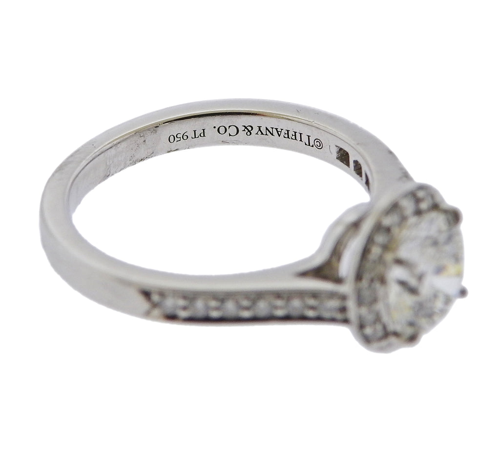 thumbnail image of GIA Tiffany & Co 1.04ct Diamond Platinum Engagement Ring