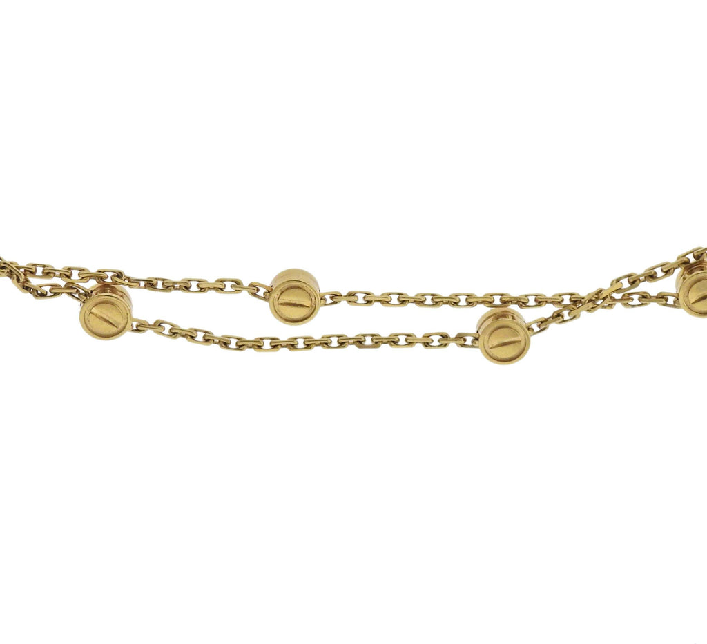thumbnail image of Vintage Cartier Love Station Gold Long Necklace