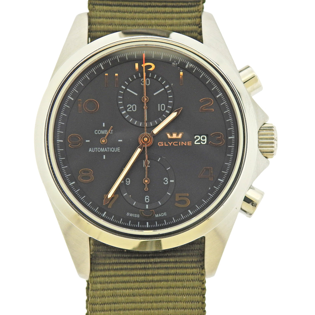 thumbnail image of Glycine Combat Chronograph Automatic Men's Watch 3924.10AT