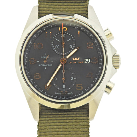 image of Glycine Combat Chronograph Automatic Men's Watch 3924.10AT