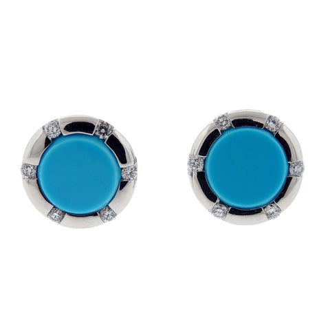 Favero 18k Gold Turquoise Diamond Cufflinks