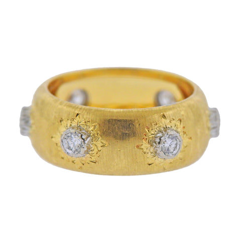 image of Buccellati Gold Diamond Ring