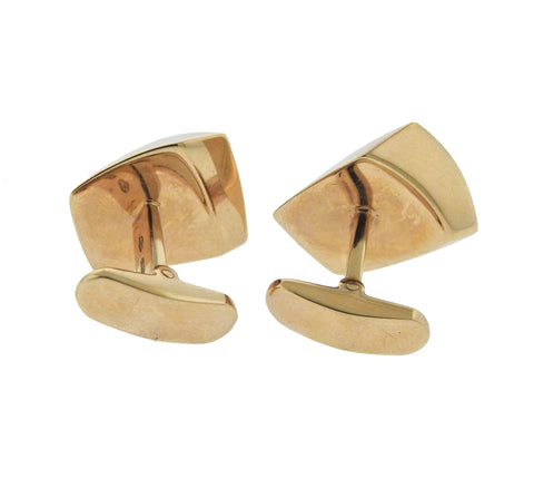 image of Vhernier Mother of Pearl Gold Cufflinks
