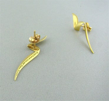 thumbnail image of Vintage Tiffany & Co 1983 Paloma Picasso 18K Gold Earrings