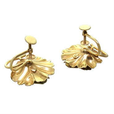 thumbnail image of Antique Victorian Enamel Gold Bee Earrings